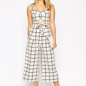 ASOS yellow grid jumpsuit 14